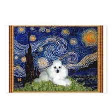 Starry Night / Poodle(w) Postcards (Package of 8)