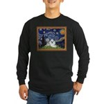 Starry Night / Poodle(w) Long Sleeve Dark T-Shirt