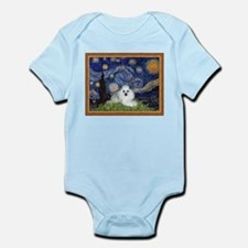 Starry Night / Poodle(w) Infant Bodysuit