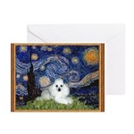 Starry Night / Poodle(w) Greeting Cards (Pk of 20)