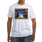 Starry Night / Poodle(w) Fitted T-Shirt