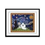 Starry Night / Poodle(w) Framed Panel Print