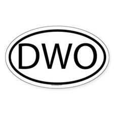 DWO Oval Decal