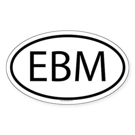 EBM Oval Sticker