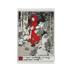 Webb's Little Red Riding Hood Rectangle Magnet (10