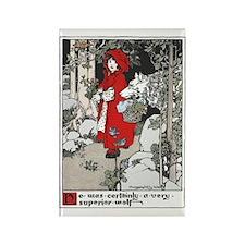 Webb's Little Red Riding Hood Rectangle Magnet