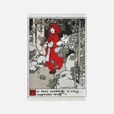 Webb's Little Red Riding Hood Rectangle Magnet