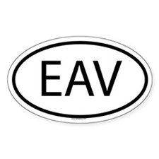 EAV Oval Decal