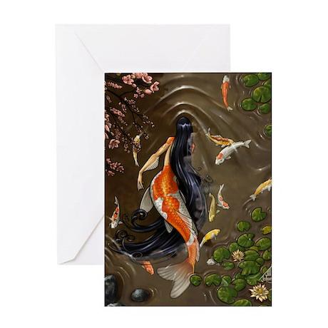 Koi Mermaid Greeting Card