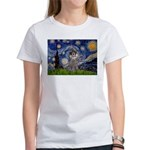 Starry Night / Poodle (s) Women's T-Shirt