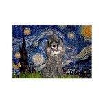 Starry Night / Poodle (s) Rectangle Magnet (10 pac