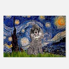 Starry Night / Poodle (s) Postcards (Package of 8)