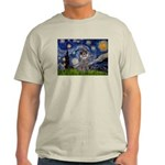 Starry Night / Poodle (s) Light T-Shirt