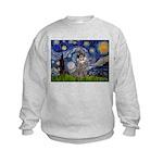 Starry Night / Poodle (s) Kids Sweatshirt