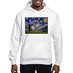 Starry Night / Poodle (s) Hooded Sweatshirt