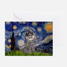 Starry Night / Poodle (s) Greeting Cards (Pk of 20
