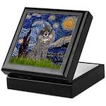 Starry Night / Poodle (s) Keepsake Box
