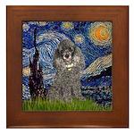 Starry Night / Poodle (s) Framed Tile