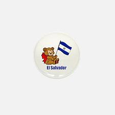 El Salvador Teddy Bear Mini Button (100 pack)