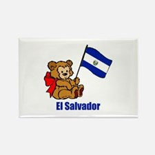 El Salvador Teddy Bear Rectangle Magnet (10 pack)