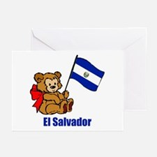 El Salvador Teddy Bear Greeting Cards (Pk of 10)