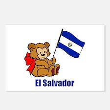 El Salvador Teddy Bear Postcards (Package of 8)