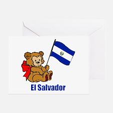 El Salvador Teddy Bear Greeting Card
