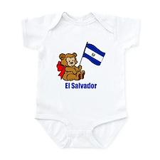 El Salvador Teddy Bear Infant Bodysuit