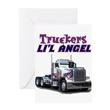 Truckers Li'l Angel Greeting Card