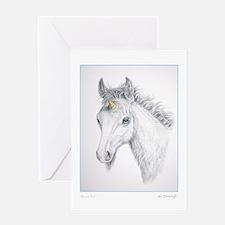 Unicorn Foal ~ Greeting Card BLANK