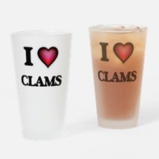 I love Clams Drinking Glass