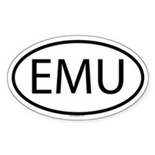 EMU Oval Decal