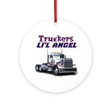 Truckers Li'l Angel Ornament (Round)