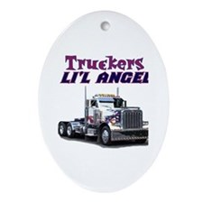 Truckers Li'l Angel Oval Ornament