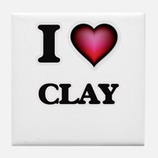 I love Clay Tile Coaster