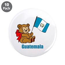 "Guatemala Teddy Bear 3.5"" Button (10 pack)"