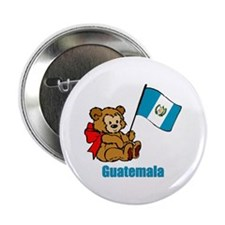 "Guatemala Teddy Bear 2.25"" Button (10 pack)"