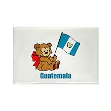 Guatemala Teddy Bear Rectangle Magnet