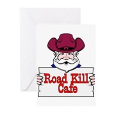 Road Kill Cafe Sign Greeting Cards (Pk of 10)