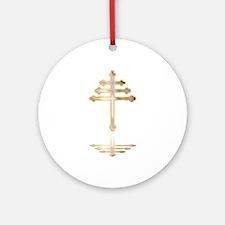 Maronite Christian Cross Reflection Round Ornament