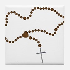 The Rosary Beads Tile Coaster