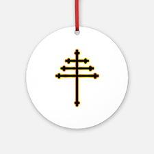 Maronite Christian Cross Round Ornament