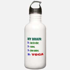 My Brain, 90 % Yoga . Water Bottle