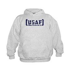 Proud USAF FthrNlaw - Tatterd Style Hoodie