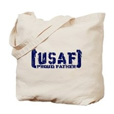 Proud USAF Fthr - Tatterd Style Tote Bag