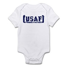 Proud USAF Fthr - Tatterd Style Infant Bodysuit