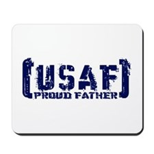 Proud USAF Fthr - Tatterd Style Mousepad