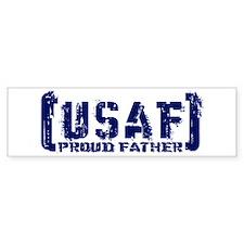 Proud USAF Fthr - Tatterd Style Bumper Bumper Sticker