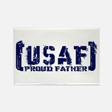Proud USAF Fthr - Tatterd Style Rectangle Magnet