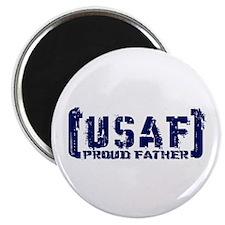 Proud USAF Fthr - Tatterd Style Magnet
